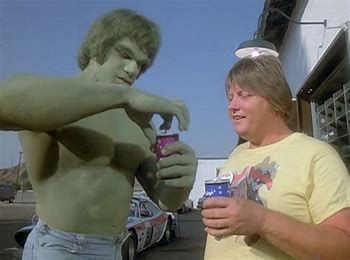 Lou Ferrigno & Jones in The Incredible Hulk