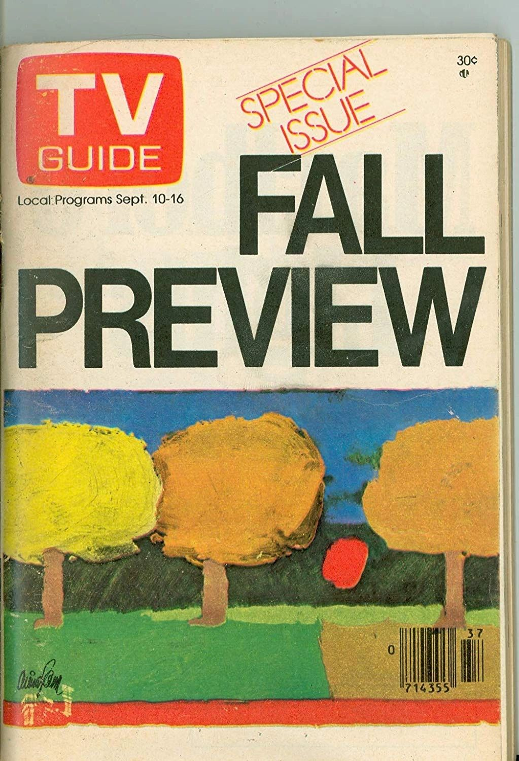 TV Guide Fall Preview cover 1977