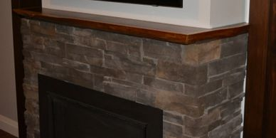 Fireplace Mantle - Live Edge