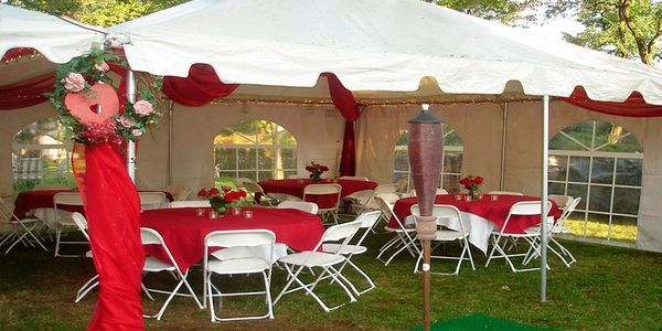 One of our tent rentals near Philadelphia, PA