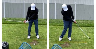 Impact Press drill: Shaft parallel to club head  down