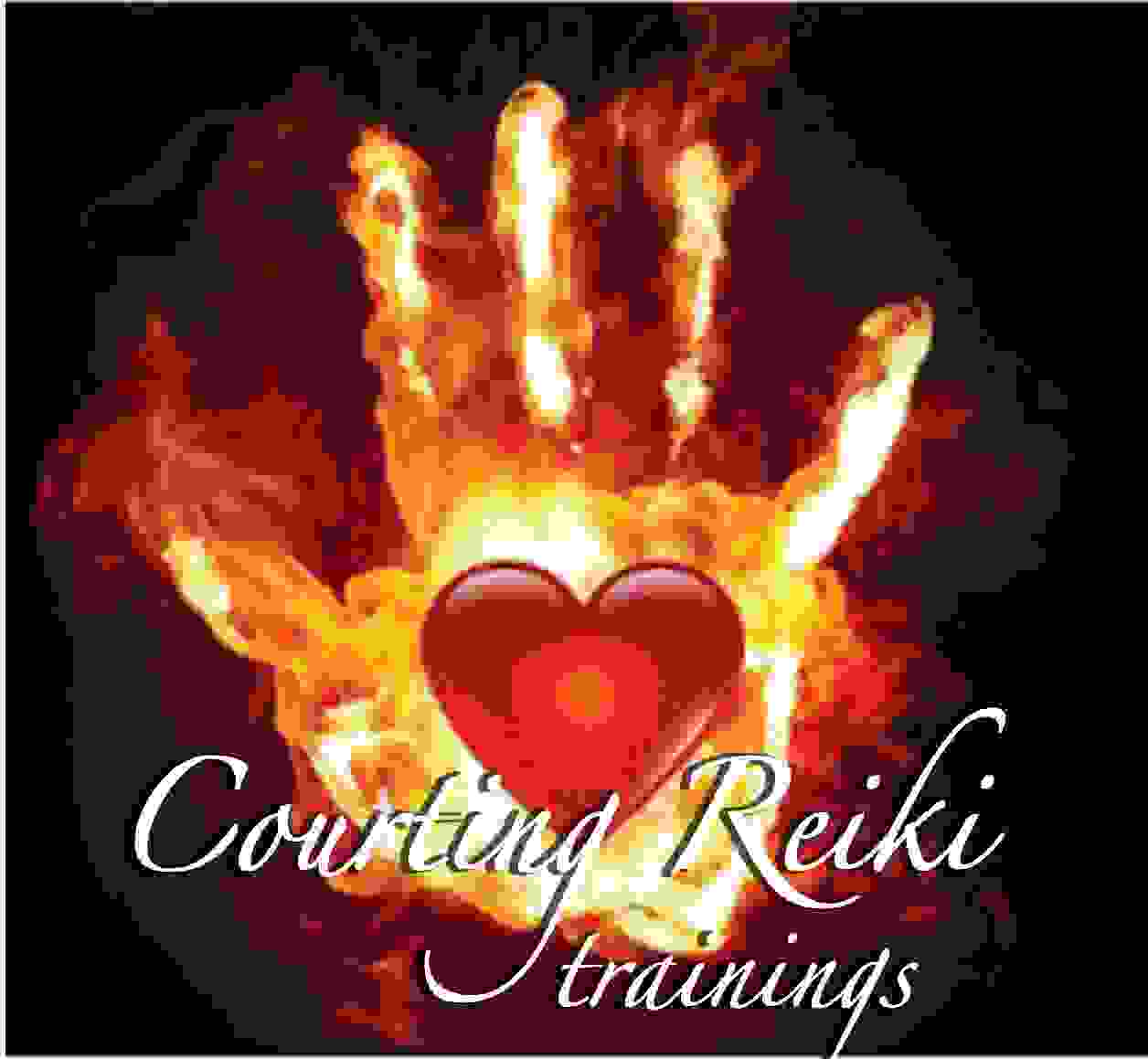 Heart in Hand graphic Reiki trainings with Come Home to you are called Courting Reiki trainings