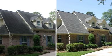 Roof cleaning, asphalt roof cleaning, roof softwashing,