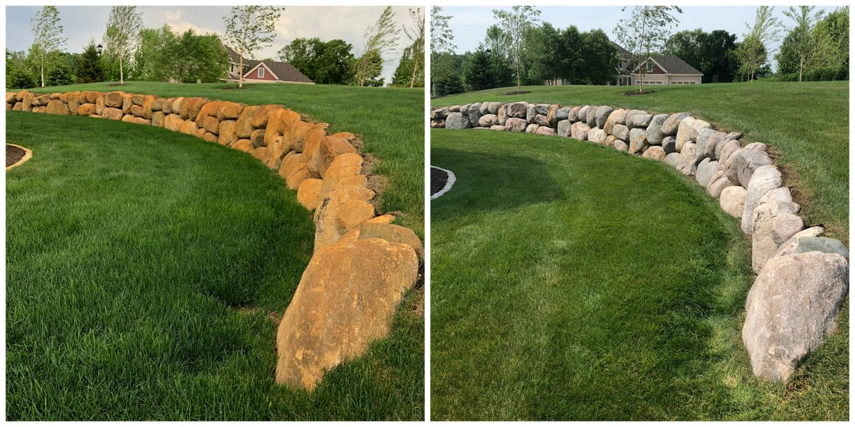 Boulder Wall Rust Removal, Rust Stain Removal in Prior Lake, Minnesota