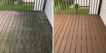 deck cleaning, deck softwashing, trex deck, maintenance free deck cleaning