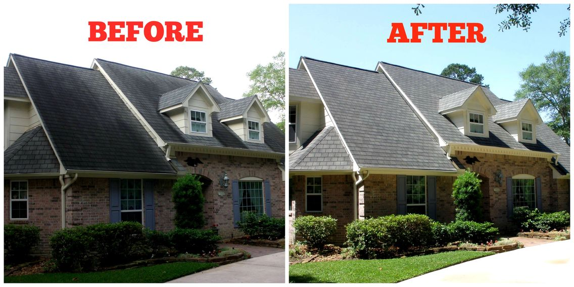 pressure washing, softwashing, soft wash, power washing, roof stains, ugly roof stains, low-pressure