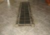 "A beautiful Slate tile rug inlay, centered in the 20"" Porcelain diagonal floor."