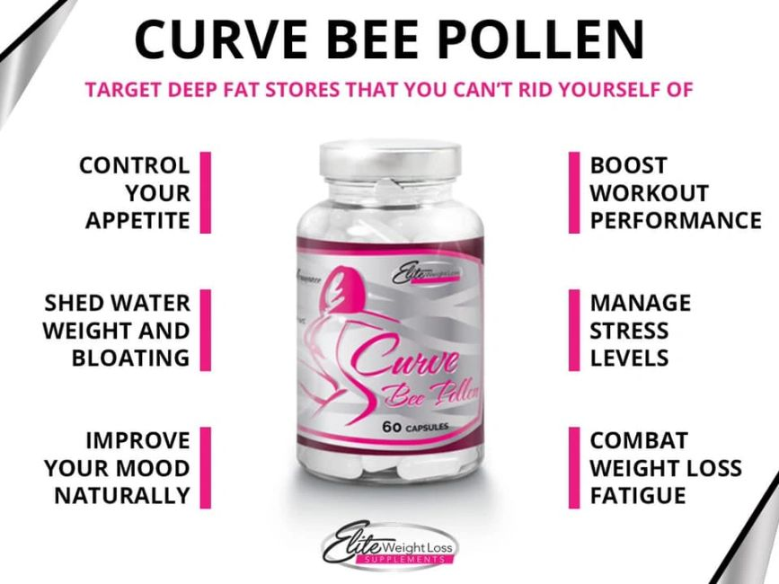 CURVE BEE POLLEN BY ELITE WEIGHT LOSS SUPPLEMENTS