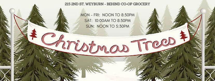 Christmas Tree Sales start Sunday Dec 1 and end Sunday Dec 22
