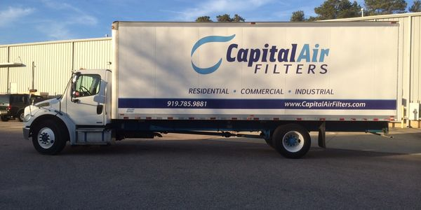 Capital Air Filters delivery truck- free local air filter delivery