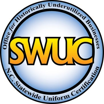 Historically Underutilized Businesses NC statewide uniform certification seal- HUB, woman owned