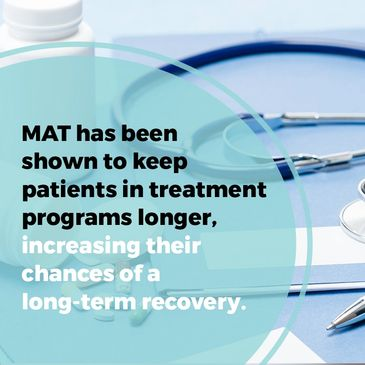 Medicated-Assisted Treatment (MAT) is the use of FDA- approved medications, in combination with coun