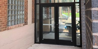 Aluminum Doors, automatic doors, Commercial glass, commercial glazing, St. Louis Glass