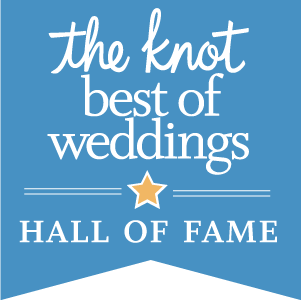 We are members of The Knot: Best of Weddings Hall of Fame!