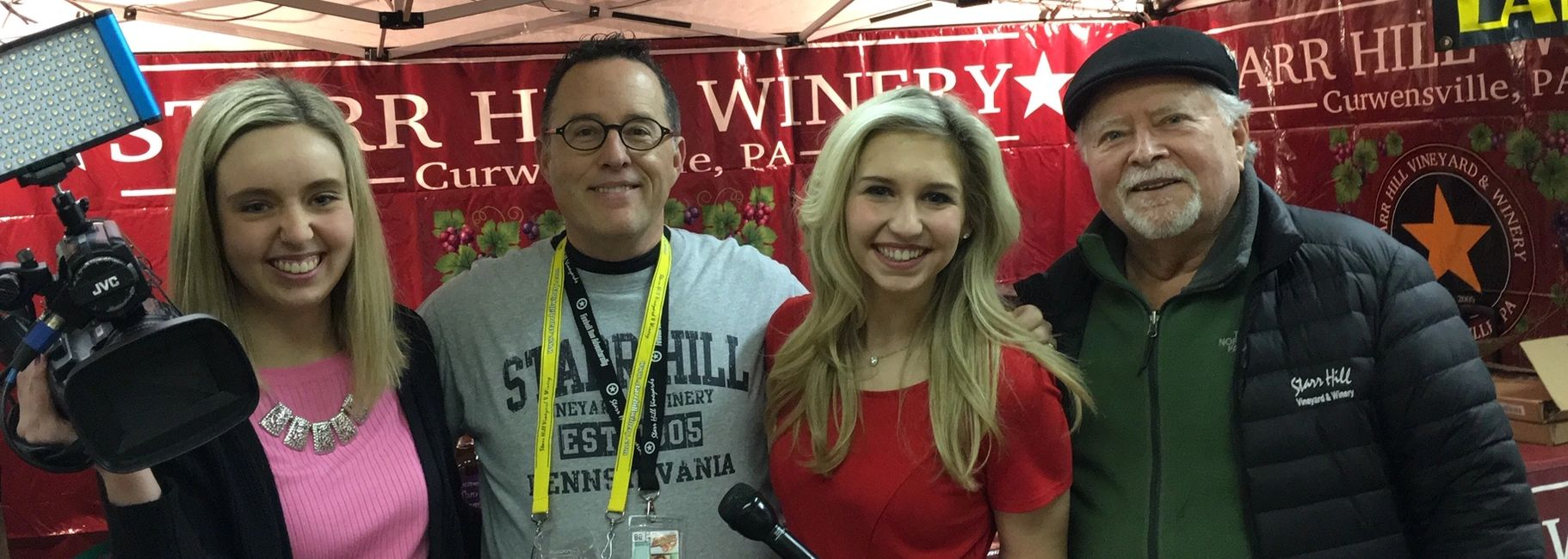 WTAJ tv 10 Allison Gens, Reporter, Kenn , Morgan Koziar  Producer with Central PA LIVE and Ken Starr