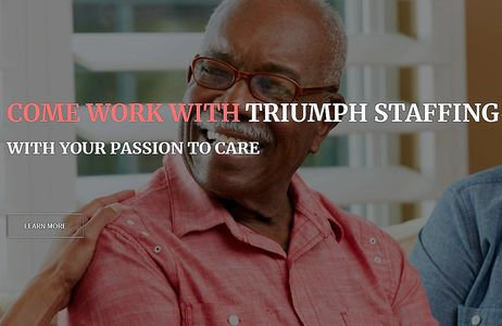 Triumph staffing,medical staffing,RN jobs,LPN jobs near me,home care staffing agency
