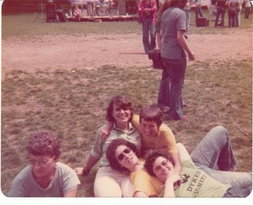 Karla Jay and friends at a Pride rally, 1974. Courtesy of Karla Jay