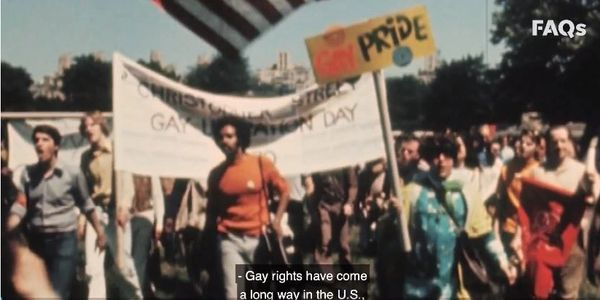 Pride March in the 1970s Photo.