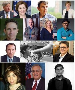 "Headshots of guests on ""Pride, Progress, and Politics: 50 Years Since Stonewall"" WBAI Radio."