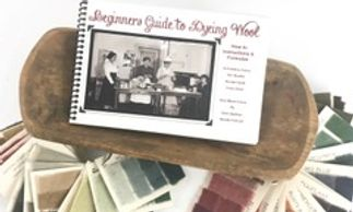 Beginners guide to dyeing wool book and wool sample set.  Wool dying recipes with directions on how