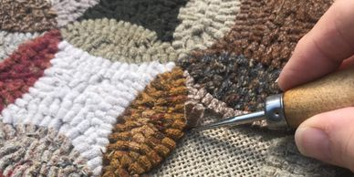 Rug hooking or punch needle patterns can be found in a variety of sizes.   linen or monks cloth
