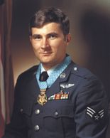 Medal of Honor Recipient John Levitow earned the award for actions during the Vietnam War.