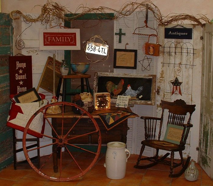 Hand crafted gifts, antiques, collectibles, primitives, quilts, home decor, Americana, Crosses, bows