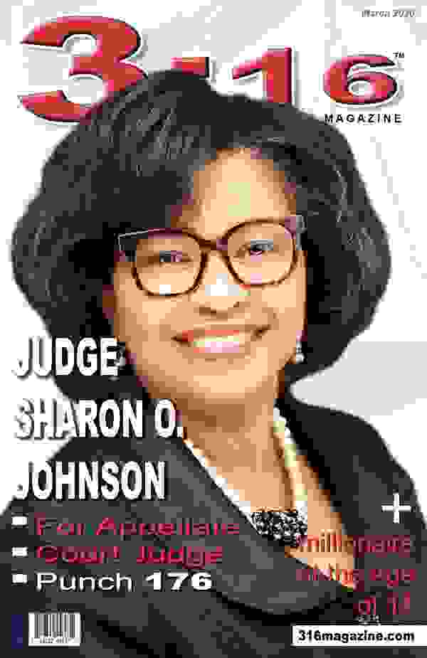 Judge Sharon O. Johnson featured on the March cover of 316 Magazine.