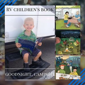 5 Star RV Children's Book Goodnight, Campsite is ideal for camping themed lesson plans