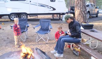 Kids Camping Books Author Loretta Sponsler on an RV camping trip with her family