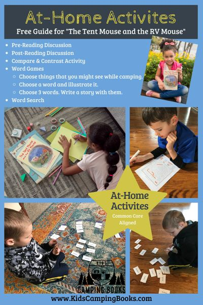 at home activities, free printables, camping theme activities, camping lesson plans, rv camping