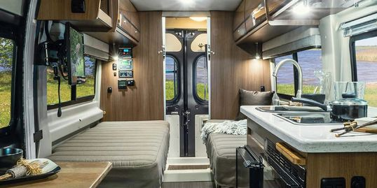 Interior of a Winnebago Travato