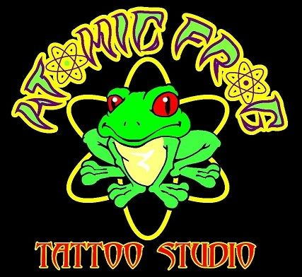 ATOMIC FROG TATTOO STUDIO LOGO