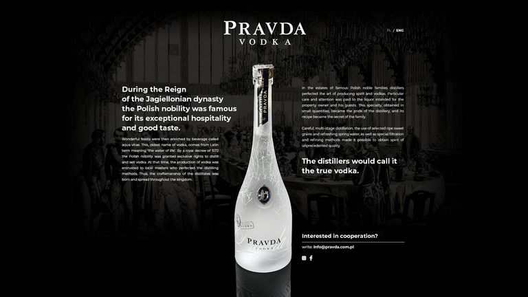 Best rated premium vodka brand, imported from Poland.