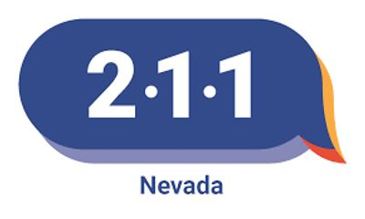 the numnbers 2 1 1 are shown in a chat bubble with Nevada underneath it