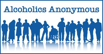 Alcoholics Anonymous group standing together