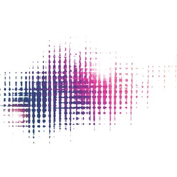 pink and purple abstract design on white background