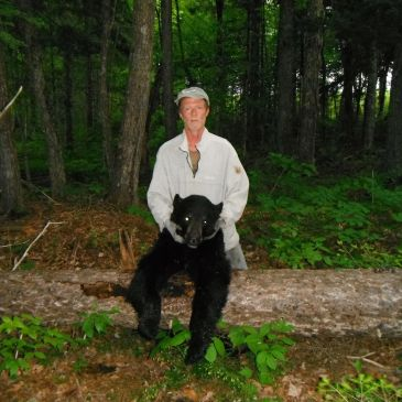 KENNY WITH NICE BLACK BEAR