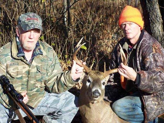 Ken and Dale with a nice 10 pt. whitetail buck