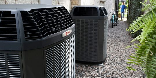 Trane Air Conditioning Unit from Trinity Heating and Cooling in Peoria, IL and Metamora, IL