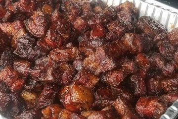 pork belly burnt ends barbecue bacon