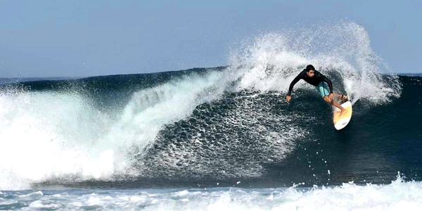 Surfing Troncones Point