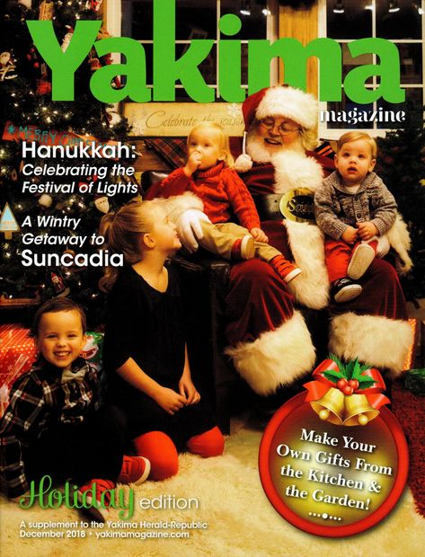 Here Comes Santa  Claus - The Real Santa Mark Featured in Yakima Magazine Holiday addition