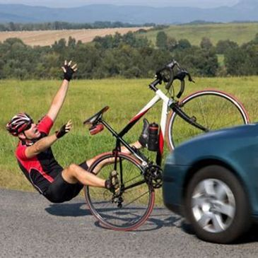 personal injury bicycle car auto crash wreck accident