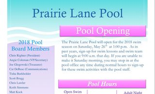 Our yearly newsletter contains new and existing info about the pool, events, bonds, guests etc...