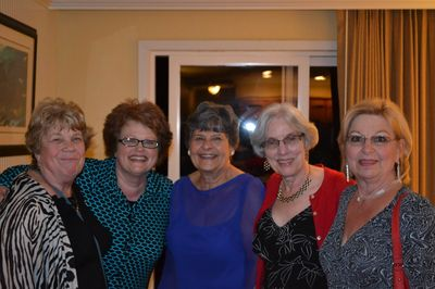 Past Presidents Claudine Hicks (left), Alice Hayden (second from right), and Jerri Adams (right).