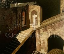Oil painting by Joyce Auteri Castel Sant'Angelo,Rome,Italy Castle, Hadrian,parco adriano,tiber river