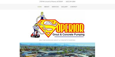 GROUT & CONCRETE PUMPING website with integrated email marketing and custom  SEO package built in.