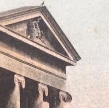 Pediment of the Devizes Assize Court - from a postcard of about 1920.