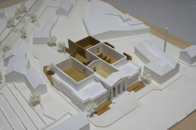 Architectural model of an scheme for the Assize Court